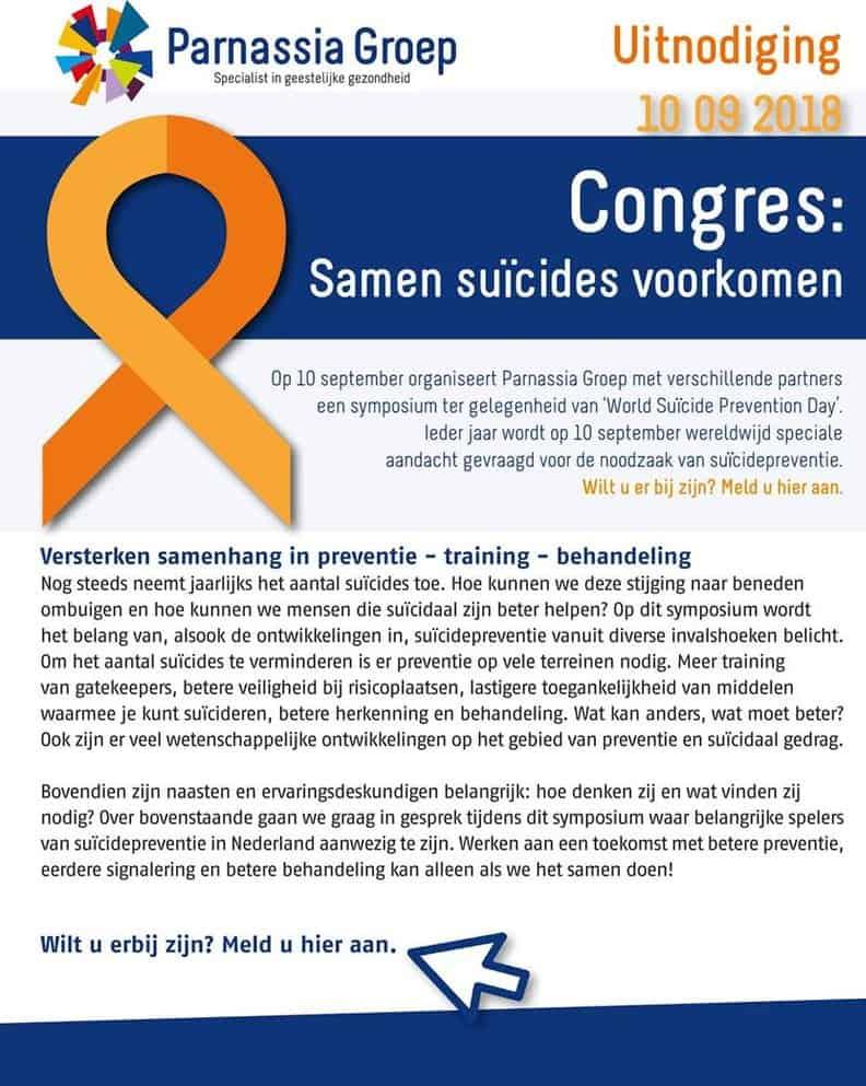 Samenwerken aan Suïcidepreventie